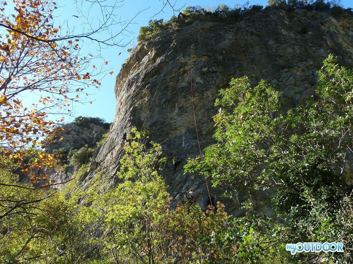 Una via di arrampicata al Fosso dell
