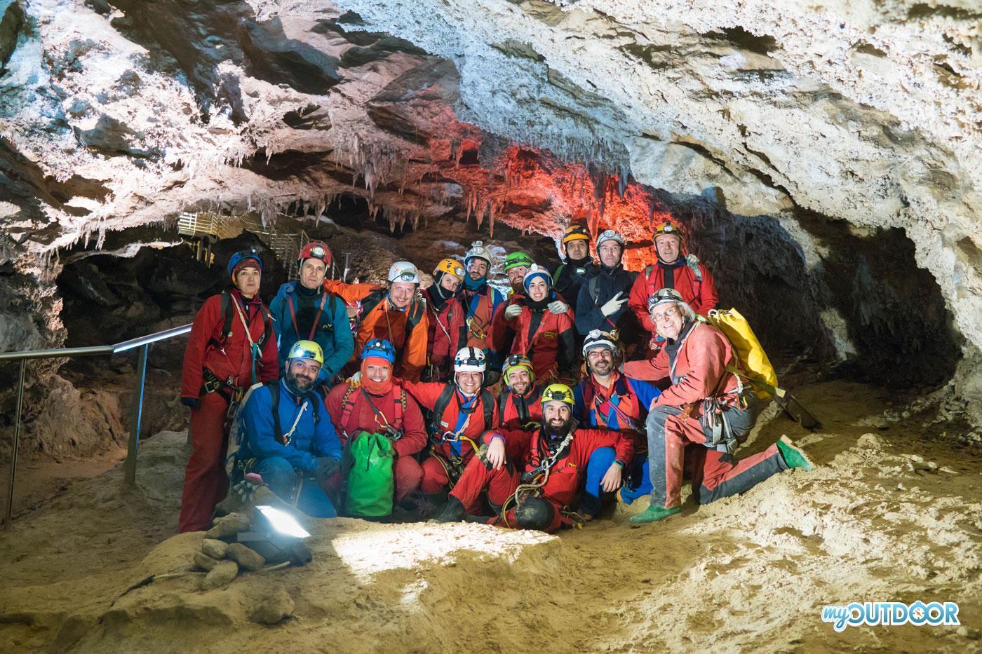 Foto finale all'uscita dalla grotta