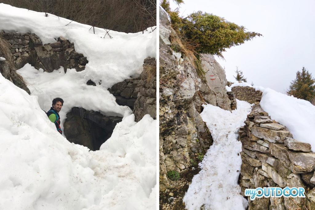 Triincee e gallerie sul monte Palon, Trekking della Grande Guerra