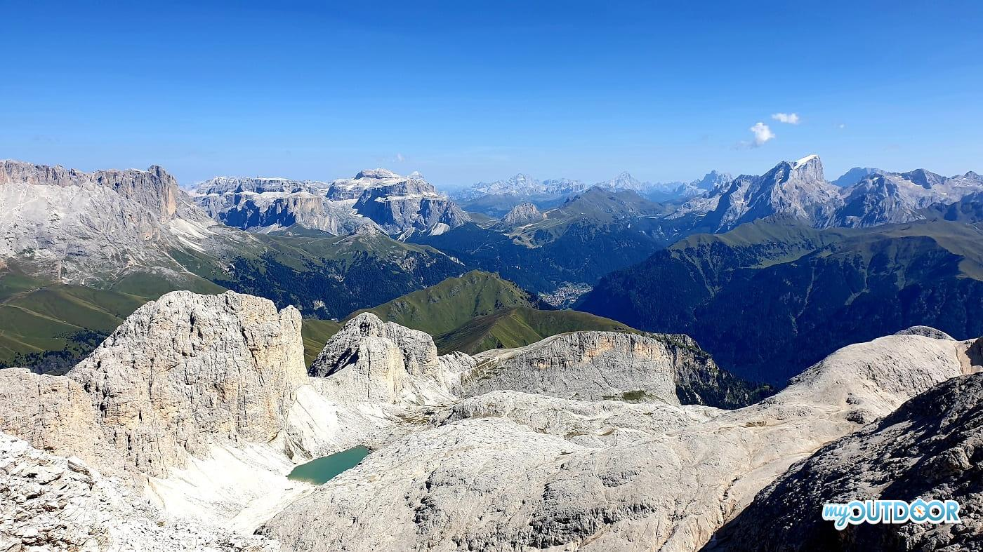 Panorama dal Catinaccio d'Antermoia