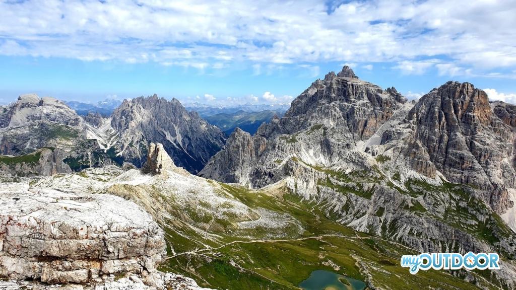 Vista dalla cima di Monte Paterno