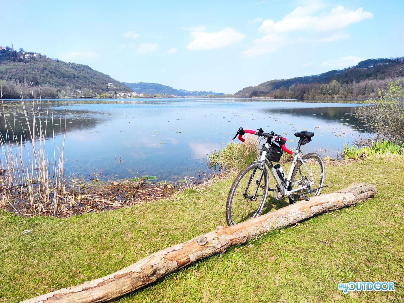 In bici al Lago di Fimon