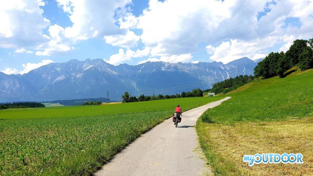 In discesa verso Innsbruck