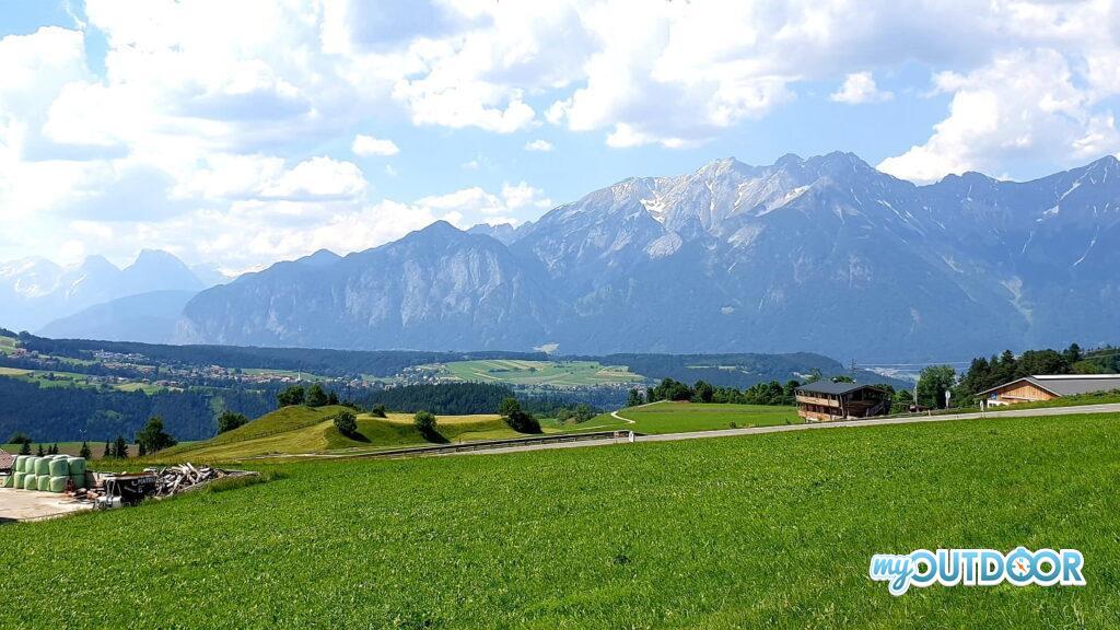 Le Alpi Tirolesi sopra Innsbruck