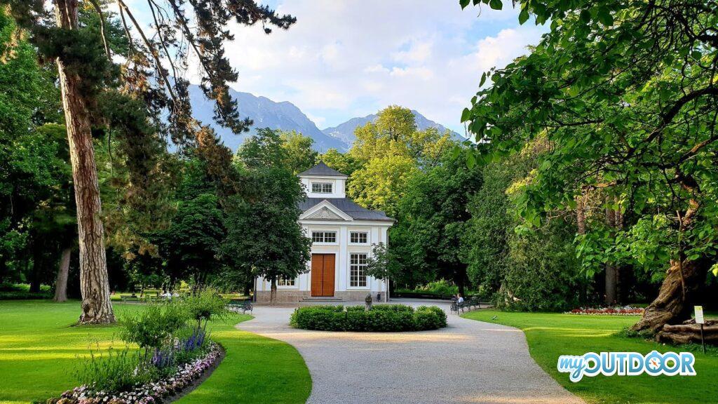 Il bellissimo giardino Innsbrucker Hofgarten