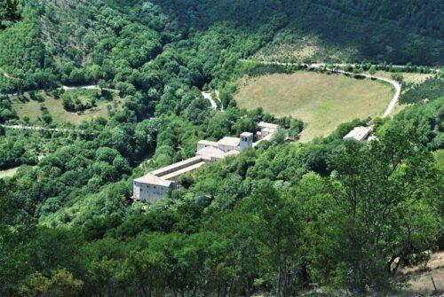 Il Monastero di Fonte Avellana dall'alto